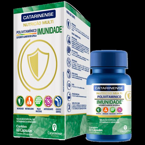 CATARINENSE NUTRIÇÃO MULTI IMUNIDADE COM 60 CÁPSULAS