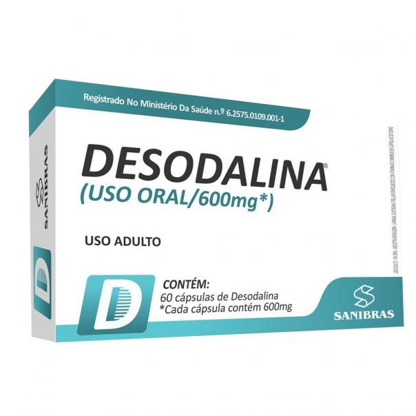 DESODALINA SANIBRAS COM 60 CÁPSULAS DE 600MG